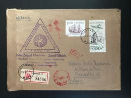 Pologne 1965 Recommandé De Poznan Vers Bruxelles - Covers & Documents