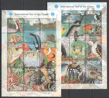 H597 1998 ST. VINCENT FISH & MARINE LIFE FAUNA YEAR OF THE OCEAN 2KB MNH - Maritiem Leven