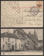 """Guerre 14-18 - OC13 Sur CP Vue (Waremme, Place De L'école) + Censure Rouge Et N° De Censeur """"6"""" > Sart-les-Spa - [OC1/25] Gouv. Gén."""