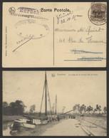 Guerre 14-18 - OC11 Sur CP Vue (Lessines - Rivage De La Carrière) + Censure Ath Et Griffe Zurück - [OC1/25] Gen. Gouv.