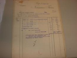 FATTURA ARMES NEUMANN FRERES 1909-LIEGE - Italy