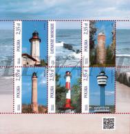 2015.06.19. Lighthouses (4) - MNH Sheet - Nuovi