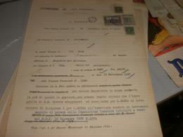 DOCUMENTO COMUNE DI PORTO VALTRAVAGLIA CON MARCHE DA BOLLO MUNICIPALI 1926 - Documenti Storici