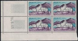 ST PAUL DE VENCE - N°1311  - BLOC DE 4 TIMBRES - COIN DATE - 16-8-1961 - COTE 1€. - 1940-1949