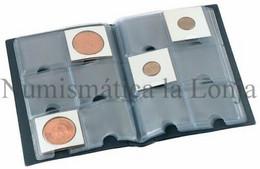 Álbum Pardo Bolsillo 10 Fundas 60 Monedas Azul Mod. 73003 - Supplies And Equipment