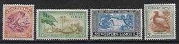 Samoa West 1952 Lot  Mi.-Nr. 97, 98, 100, 101 */MH - Samoa