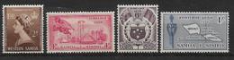Samoa West 1953 Lot  Mi.-Nr. 107, 109 - 111 **/MNH - Samoa