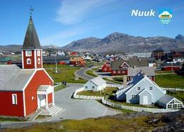 Greenland Nuuk View Church New Postcard Grönland AK - Greenland