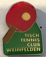 TENNIS DE TABLE - PING PONG - TISCH TENNIS CLUB WEINFELDEN - SCHWEIZ - SUISSE - SWITZERLAND - SVIZZERA - RAQUETTE - (14) - Tennis Tavolo