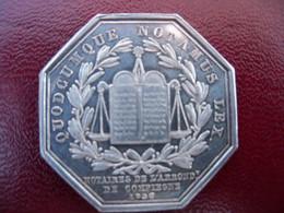 Beau Jeton De Notaire  Argent  COMPIEGNE OISE 1830. - Professionals/Firms