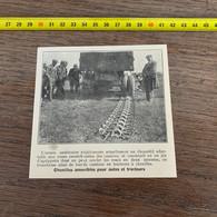 1929 PATI2 Chenille Amovible Pour Autos Et Tracteurs Dans L Armée Américaine - Non Classificati