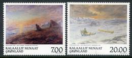 GREENLAND 1999 Paintings By Peter Rosen  MNH / **.  Michel 336-37 - Ungebraucht