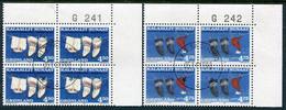 GREENLAND 1998 Christmas Blocks Of 4  Used.  Michel 329y-30y - Gebraucht