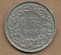 1 Francs Ag 1956 B - Switzerland