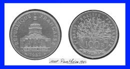 France  Monnaie 100 Frs Panthéon 1982 TTB - N. 100 Francs