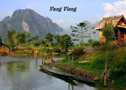 Laos Landscape Vang Vieng New Postcard - Laos