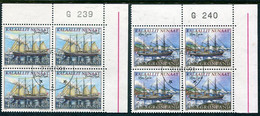GREENLAND 1998 Nordic Countries: Sailing Ships Blocks Of 4 Used.  Michel 327-28 - Gebraucht