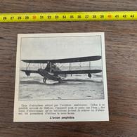 1929 PATI2 L Avion Amphibie Aéroplane Avec Gondole Servant De Flotteur - Non Classificati
