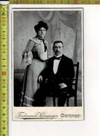 194 - VIEILLE PHOTO - COUPEL - OUDE FOTO - KOPPEL - PHOTOGRAPHIE : FERDINAND KRAMEYER OSTENDE - Antiche (ante 1900)