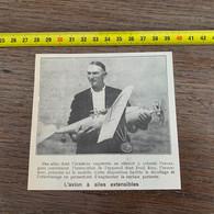 1929 PATI2 L Avion à Ailes Extensibles De Fred Ries - Non Classificati