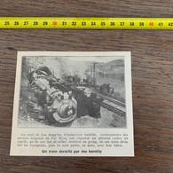 1929 PATI2 Train Déraillé Par Des Bandits Anciens Brigands De Farwest - Non Classificati