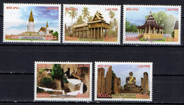 Laos 2014.  Buddhist Temple Buildings Around The World.   MNH - Laos