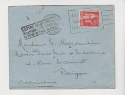 """"""" Lettre Transportée / Exceptionnellement PAR AVION / à Titre De Propagande """" / LSC De 1935 Pour  SAÏGON - 1921-1960: Moderne"""