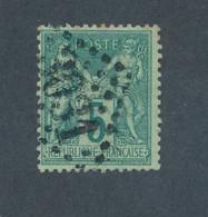 FRANCE - N°75 OBLITERE GC 3031 PROVINS - COTE MINI : 25€ - 1876 - 1876-1898 Sage (Type II)