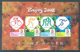 SAMOA - 2008 - MNH/*** LUXE - PEKIN OLYMPIC GAMES BEIJING - Yv 1044-1047 - Lot 23466 - Samoa