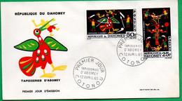 DAHOMEY - BENIN - FDC - Tapisseries D'ABOMEY - 1965 - Benin – Dahomey (1960-...)