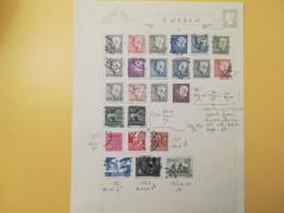 PAGINA PAGE ALBUM SVEZIA SVERIGE   ATTACCATI PAGE WITH STAMPS COLLEZIONI LOTTO LOTS - Collections