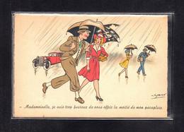 (12/05/21) THEME ILLUSTRATEURS-CPA PAHN - MADEMOISELLE JE SUIS TROP HEUREUX DE VOUS OFFRIR LA MOITIE DE MON PARAPLUIE - Otros Ilustradores
