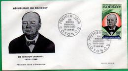 DAHOMEY - BENIN - FDC - Sir Winston CHURCHILL - 1965 - Benin – Dahomey (1960-...)