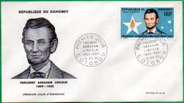 DAHOMEY - BENIN - FDC - Président Abraham LINCOLN - 1965 - Benin – Dahomey (1960-...)
