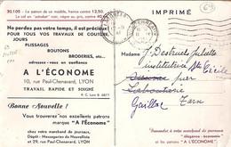69 - RHONE - LYON TERREAUX / P.P.  - FLIERS 1941  N°LYO792P  +  ILLUSTRATION - Sellado Mecánica (Otros)