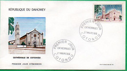 DAHOMEY - BENIN - FDC - Cathédrale De COTONOU - 1966 - Benin – Dahomey (1960-...)