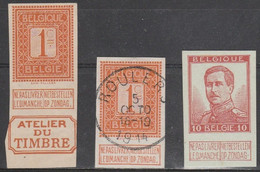 No 108 Avec Border Atelier Du Timbre + 108 Oblit/gestp + 123 - 1912 Pellens