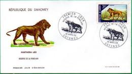 DAHOMEY - BENIN - FDC - Animaux - Réserve De La PENDJARI - 1966 - Benin – Dahomey (1960-...)