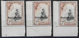 Swasiland 1961  Mi.-Nr. Porto 4 II - 6 II **/MNH - Swaziland (...-1967)