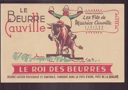 """Buvard ( 21 X 13.5 Cm ) """" Le Beurre Cauville """" Le Roi Des Beurres - Produits Laitiers"""