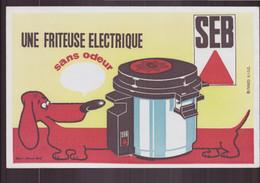 """Buvard ( 21 X 13.5 Cm ) """" Seb """" Une Friteuse électrique Sans Odeur - Other"""