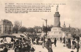 Dijon * La Place Du 30 Octobre , Un Jour De Foire * Marché Marchands - Dijon