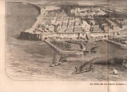 Odessa 1854 1 Feuille Double Page D Une Revue De L'époque Gravure - Magazines - Before 1900