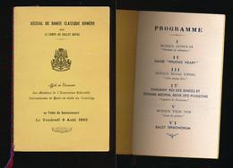 Programme Récital De Danse Classique Khmère - Cambodge - Le Corps De Ballet Royal 6 Août 1965 - Programs