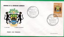 GABON - FDC - Armoiries De La République - 1964 - Gabon
