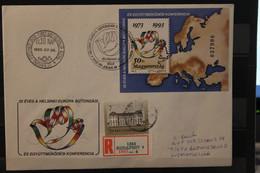Ungarn 1993, KSZE-Block Auf FDC, Einschreiben - Europäischer Gedanke