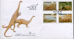 Transkei South Africa Official FDC # 2.36 - Fossils, Dinosaurs - Transkei