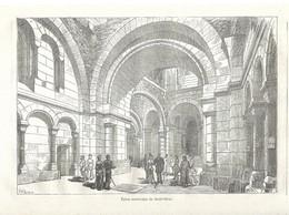 GRAVURE De 1884.. Eglise Souterraine Du SACRE COEUR De MONTMARTRE à PARIS - Prints & Engravings