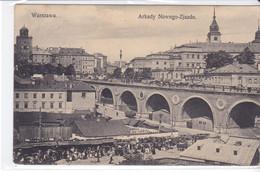 Cpa Old Pc Pologne Varsovie Warszawa Arkady Nowego Zjazdu - Polen