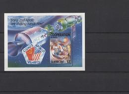 St. Vincent 1989  MiNr. Block 72 - Raumfahrt - Postfrisch - MNH - ** - St.Vincent (1979-...)